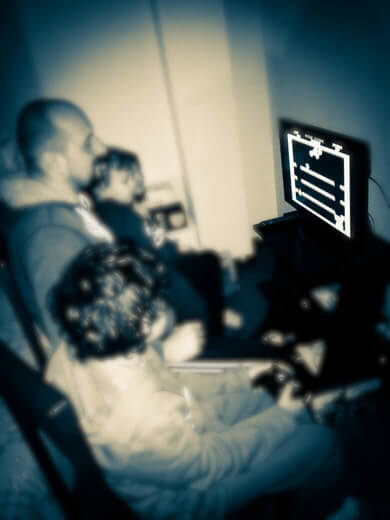 My kids and I playing Bubble Bobble in our loft. Hence my blog name