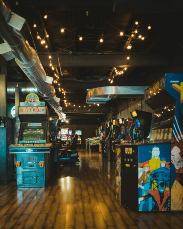 An 80s amusement arcade