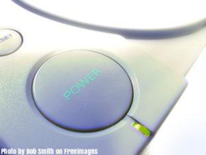 First PlayStation power button