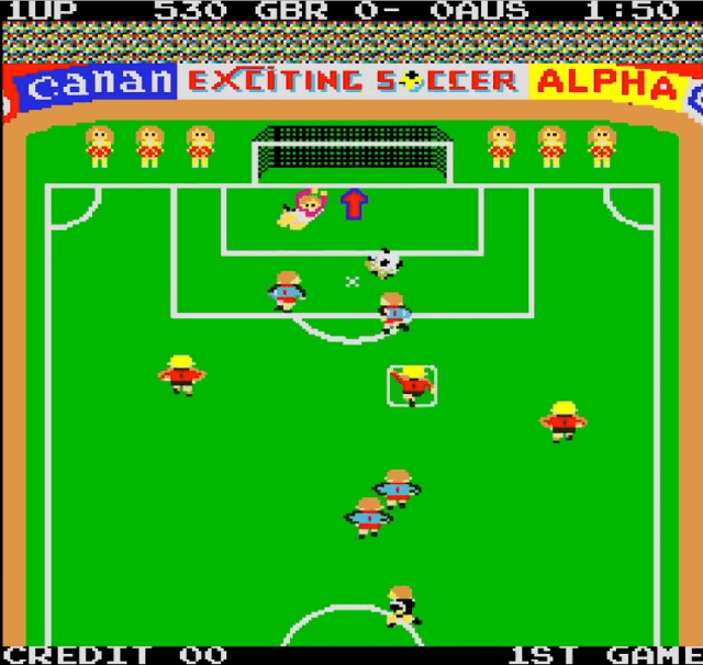 Exciting Soccer, an 80s arcade game