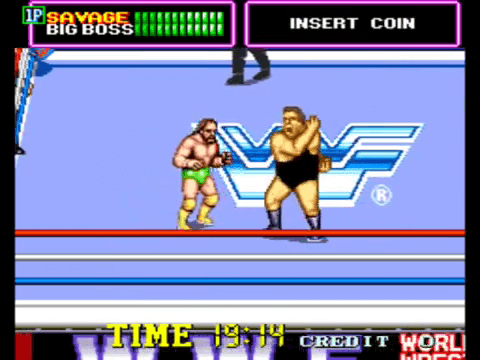 WWF Superstars, an 80s arcade game