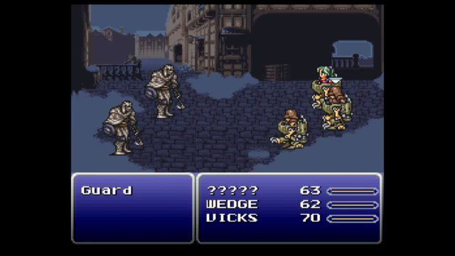Final Fantasy 6 (called Final Fantasy 3 in this compilation) on the SNES Classic Mini