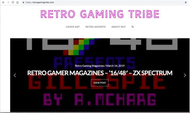 Retrogamingtribe's homepage