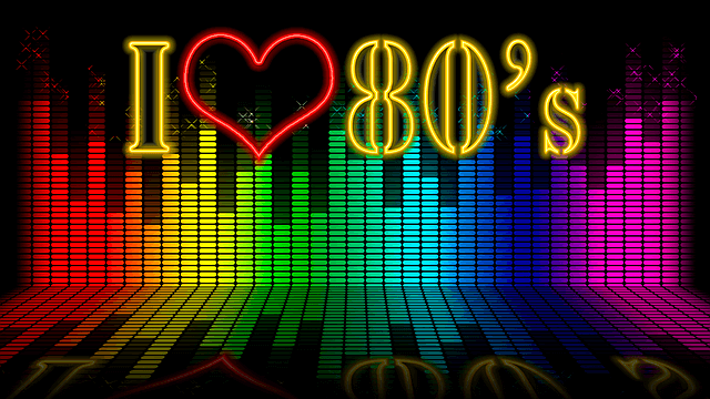 "An image reading: ""I love 80's"""