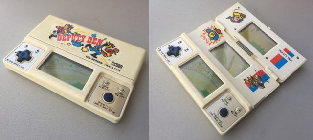 An early 80s handheld electronic game