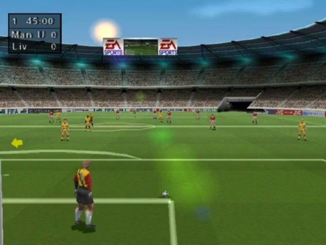 Fifa Road to World Cup 98 on the PS1