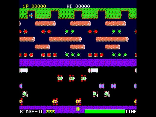 Frogger, one of the most famous Atari games