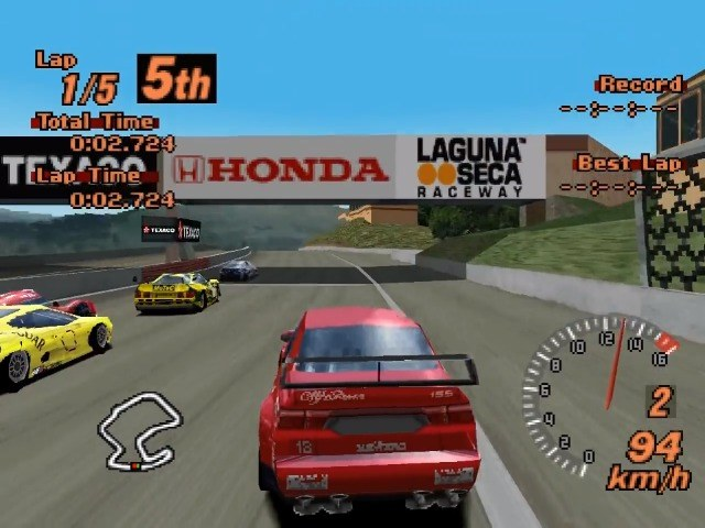 Gran Turismo 2 on the PS1