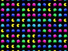 Characters from the worldwide known game Pac-Man