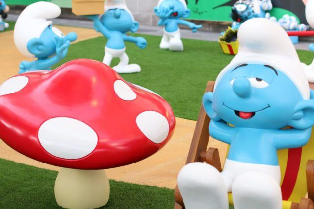 A Smurfs exhibition