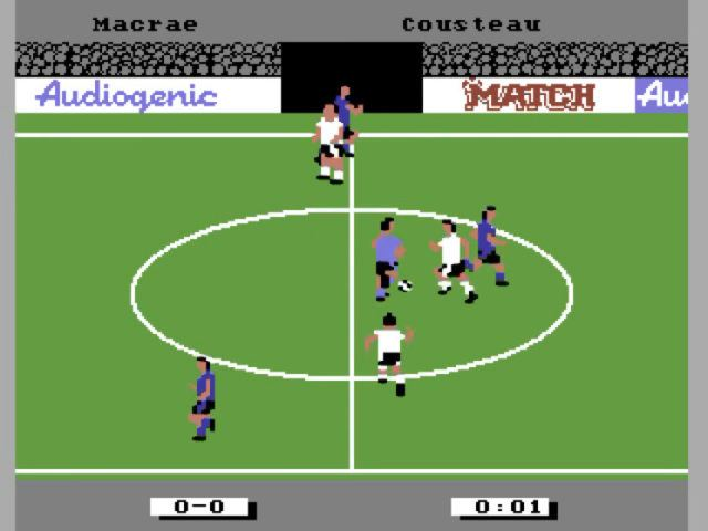 Emlyn Hughes International Soccer on the Commodore 64