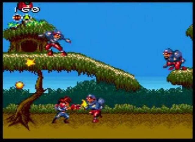 A screenshot from Gunstar Heroes