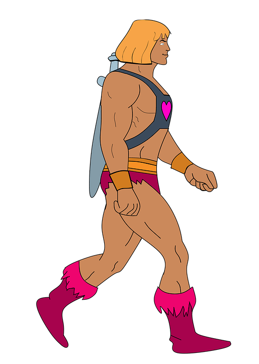 A clip art of He-Man