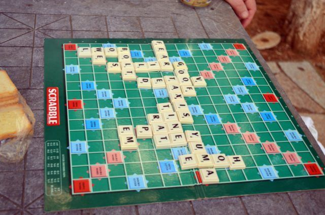 A game of Scrabble