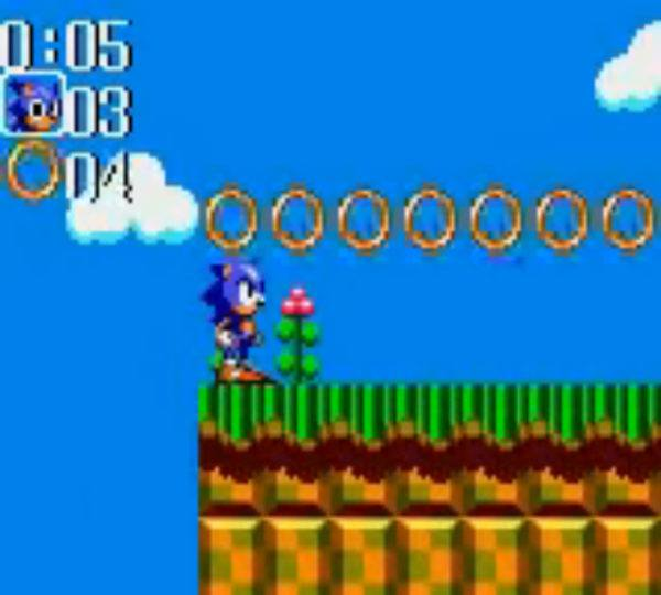 A screenshot from Sonic Chaos