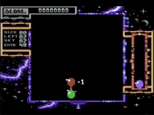 A screenshot from Atomino for the Commodore 64