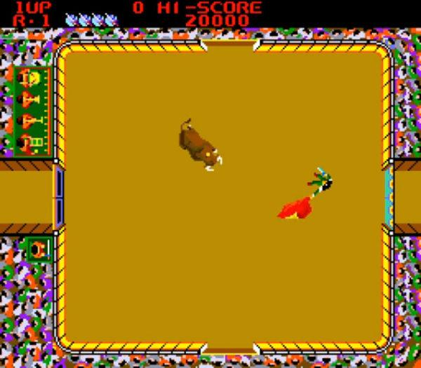 Bull fight, an 80s arcade game