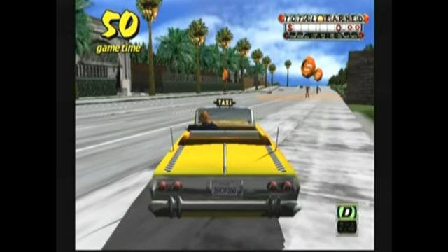 Crazy Taxi on the Dreamcast