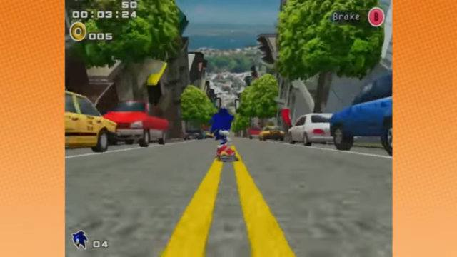 Sonic Adventure 2 on the Dreamcast