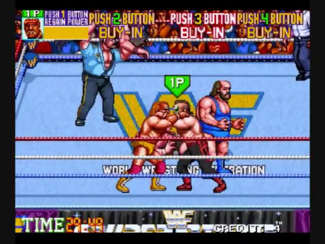 WWF Wrestlefest, a 90s arcade video game