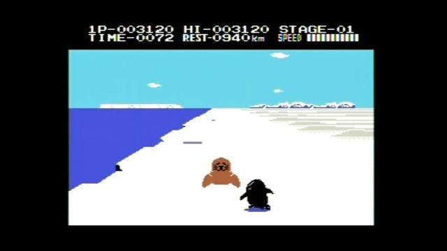 Antarctic Adventure on the ColecoVision