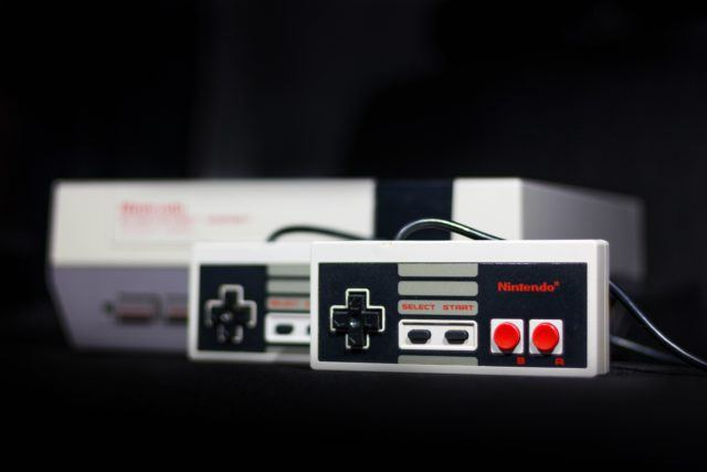 The Nintendo Classic Mini console
