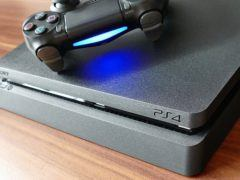 The PlayStation 4 console and a Sony controller