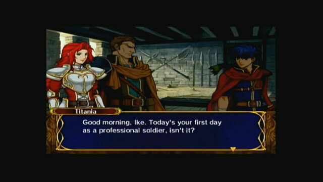 Fire Emblem: Path of Radiance on the GameCube