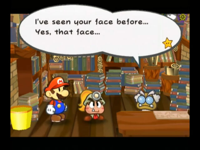 Paper Mario: The Thousand Year Door on the GameCube
