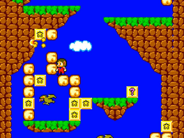 Alex Kidd in Miracle World on the Sega Master System