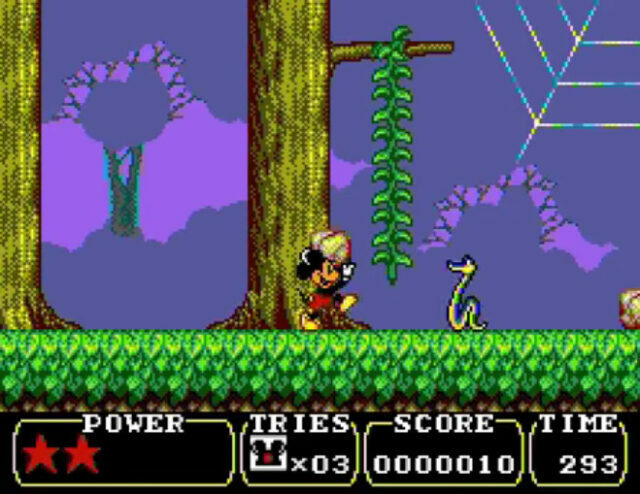 Legend of Illusion Starring Mickey Mouse on the Sega Master System