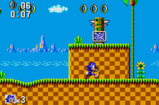 Sonic the Hedgehog on the Sega Master System