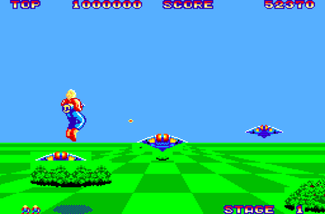 Space Harrier on the Sega Master System