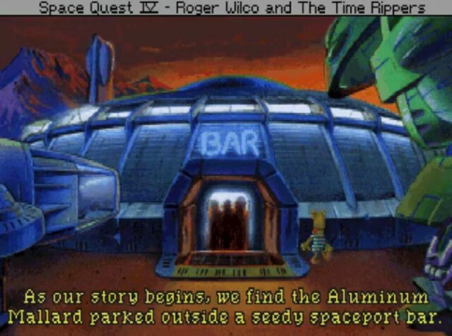 Space Quest IV: Roger Wilco and The Time Rippers on the PC