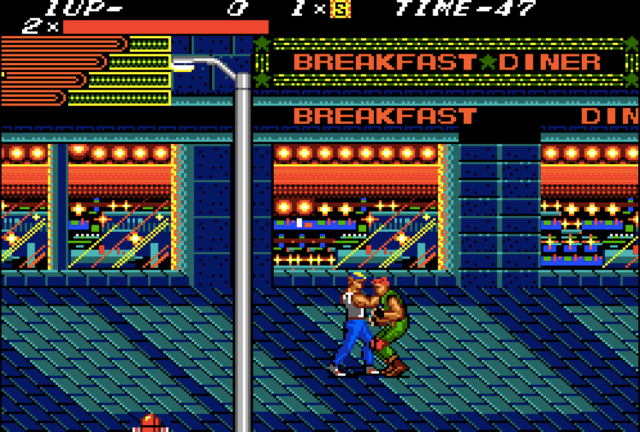 Streets of Rage on the Sega Master System