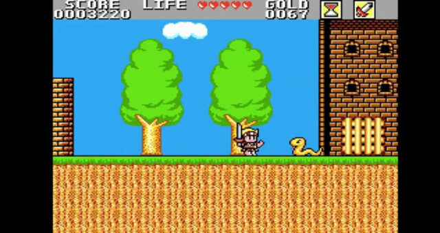 Wonder Boy in Monster Land on the Sega Master System