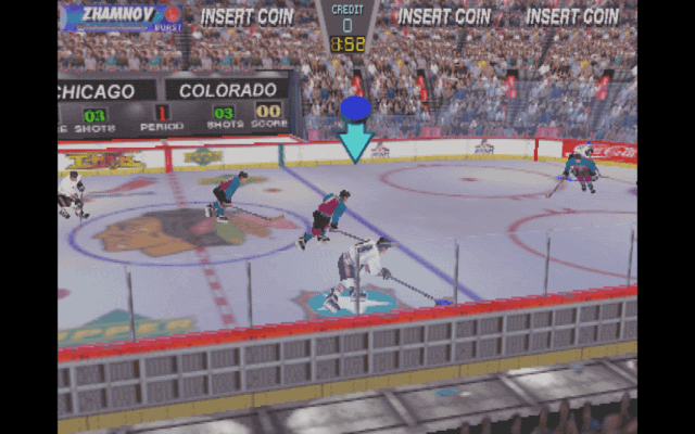 Wayne Gretzky's 3D Hockey arcade version