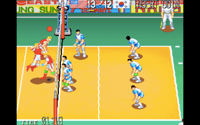 World Cup Volley 95 for the arcade