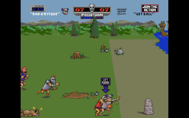 Pigskin 621 A.D. arcade version