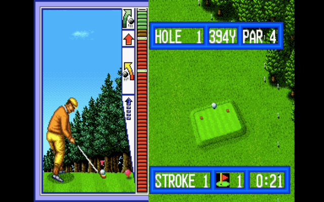 Top Player's Golf arcade version