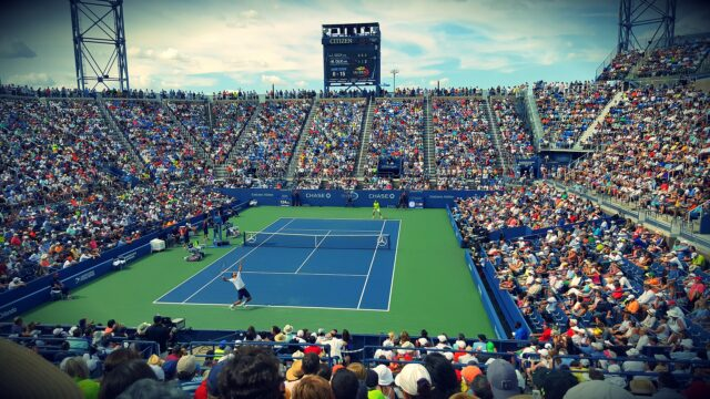 A US Open tennis match