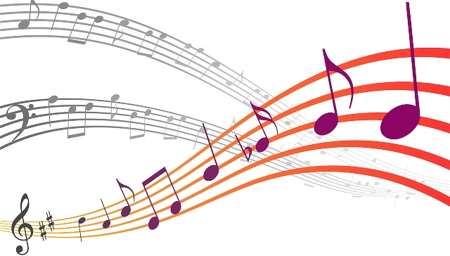A picture featuring musical notes
