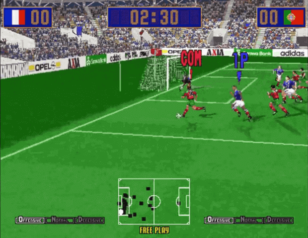 Virtua Striker 2 arcade version