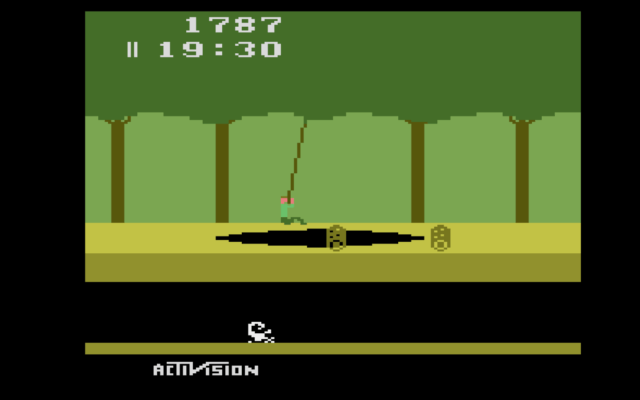 Pitfall on the Atari Flashback X